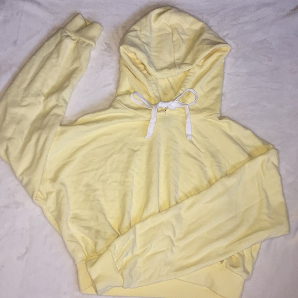 Forever 21 Jackets & Blazers - cropped yellow sweatshirt! comes ironed and washed